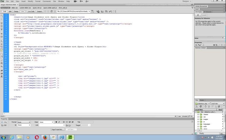 coding slideshow